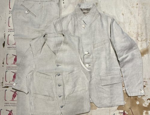 MotivMfg  3piece linen suit natural
