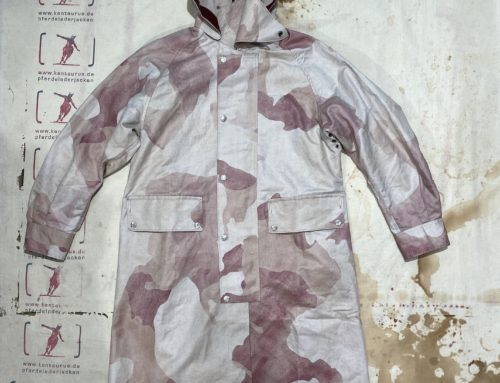 MotivMfg british military gas coat cotton coated camo smog