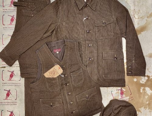 Adjustable Costume  french work suit striped brown cotton