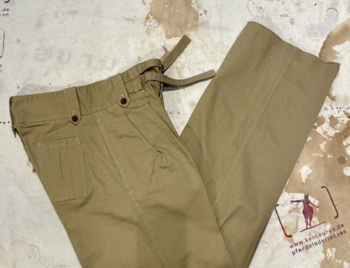 Adjustable Costume cotton twill gurkha pants beige