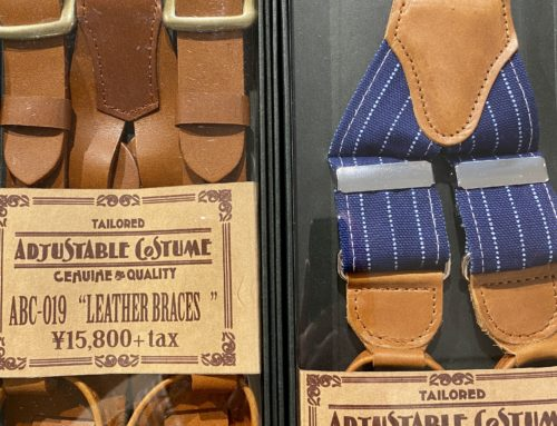 Adjustable Costume  leather and denim braces