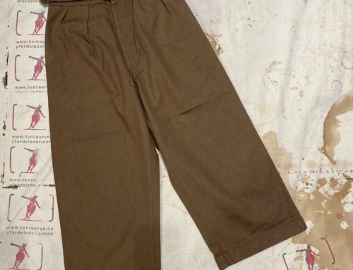 Scartilab W-901SM233 brown wide leg cotton pant