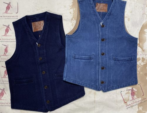 Studio D`Artisan sashiko vests dark and used