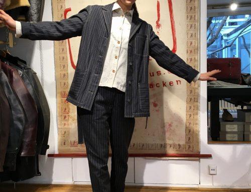 Agnes im Pinstripe Suit HW2016
