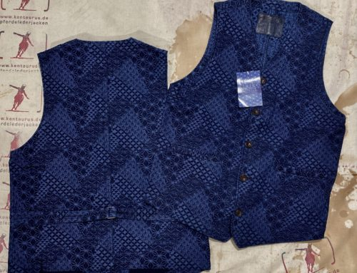 Studio D´Artisan  kiriko cotton vest blue