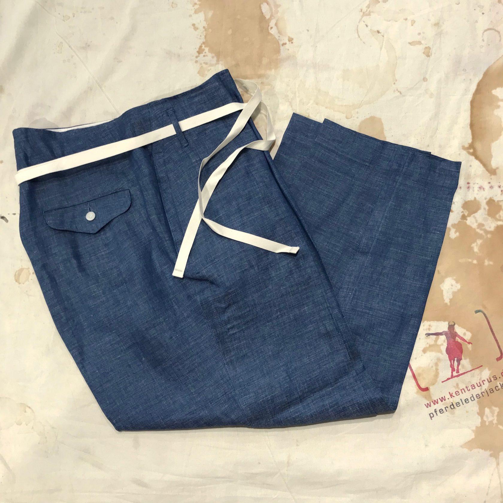 Haversack blue linen pant