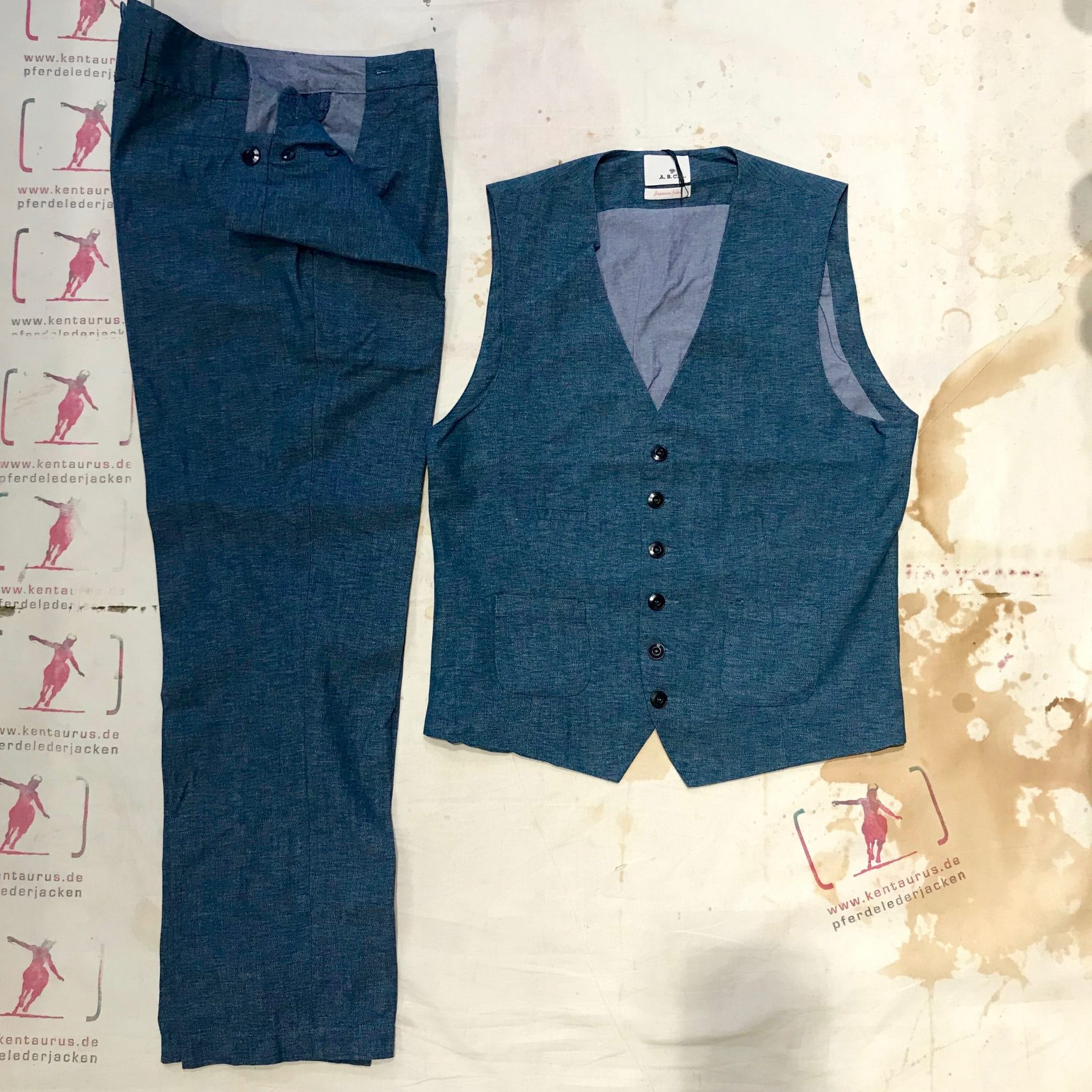A.B.C.L.  pants and vests cotton mouline