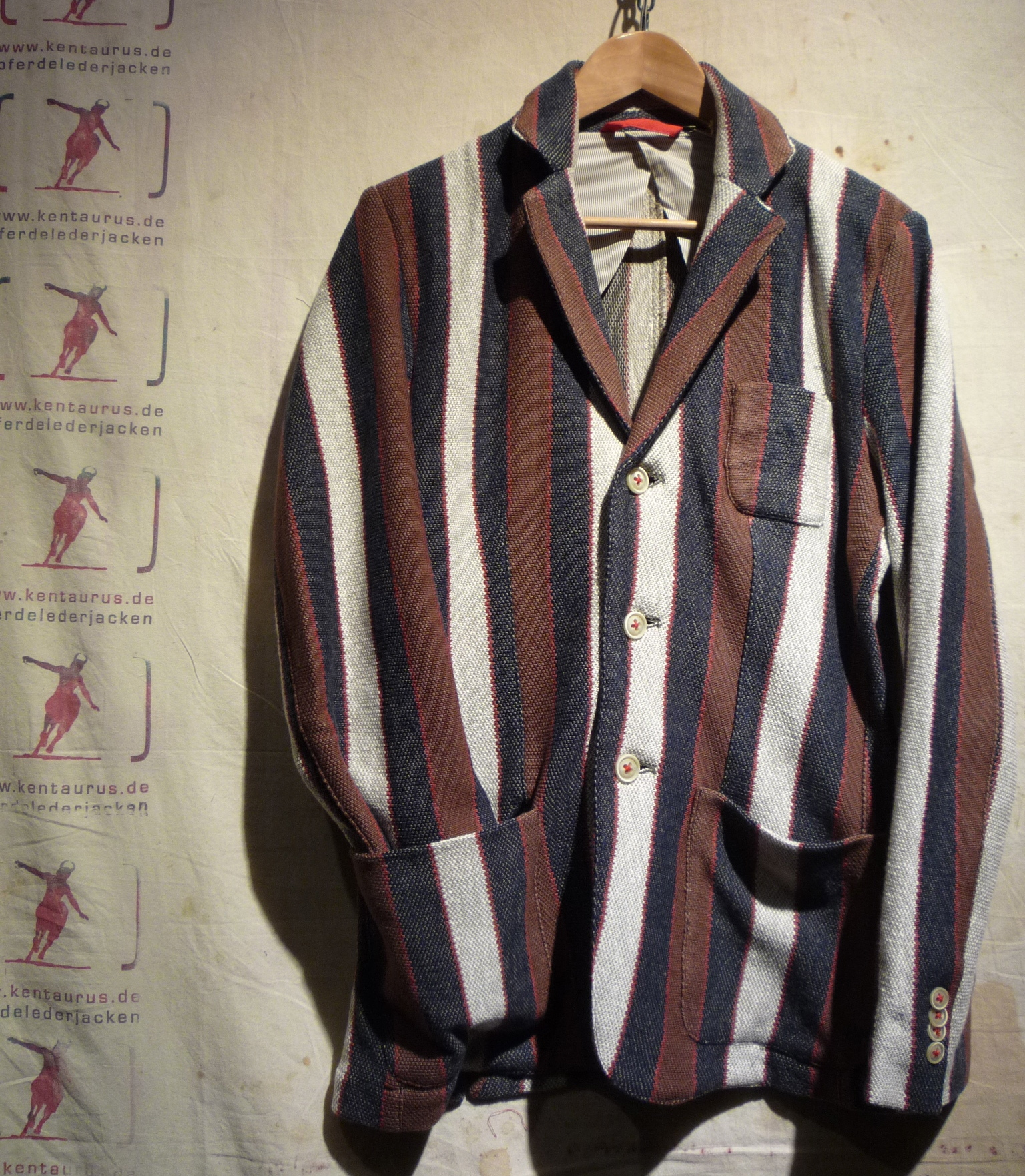 Hawick Jacket blue stripe