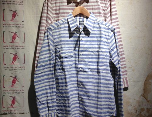 Momotaro red and blue striped