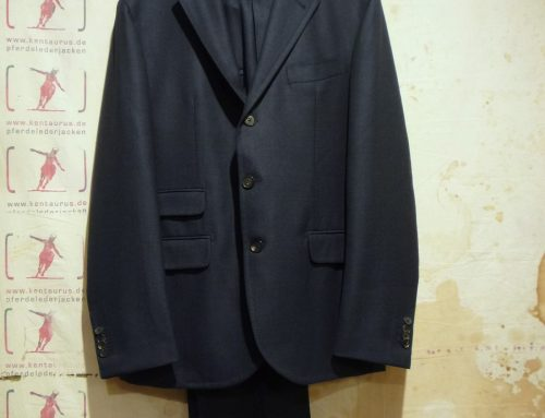 S.Piccolo blue wool suit