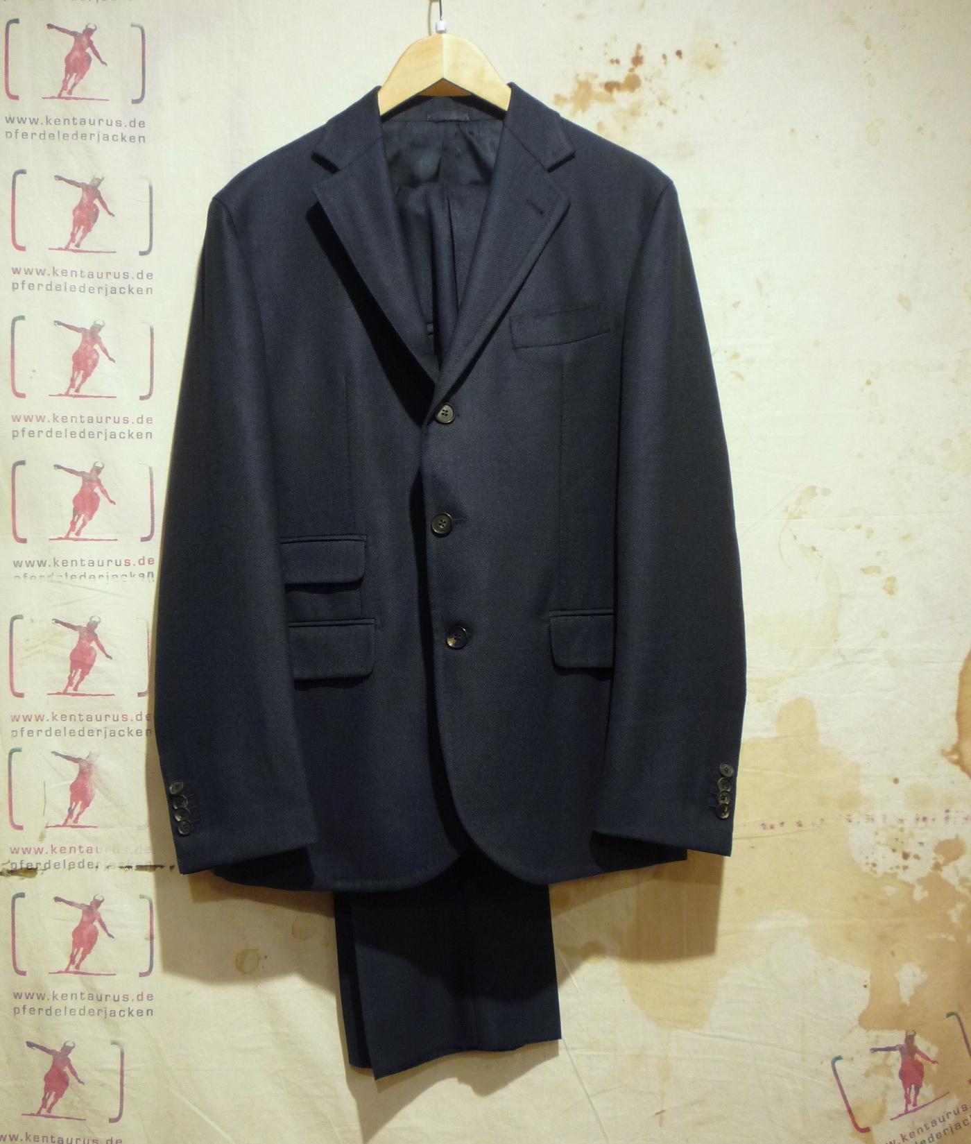 S.Piccolo blue wool suit