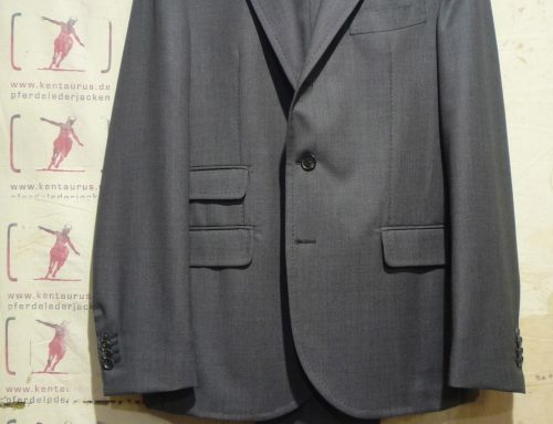 S.Piccolo grey wool suit G-CB76