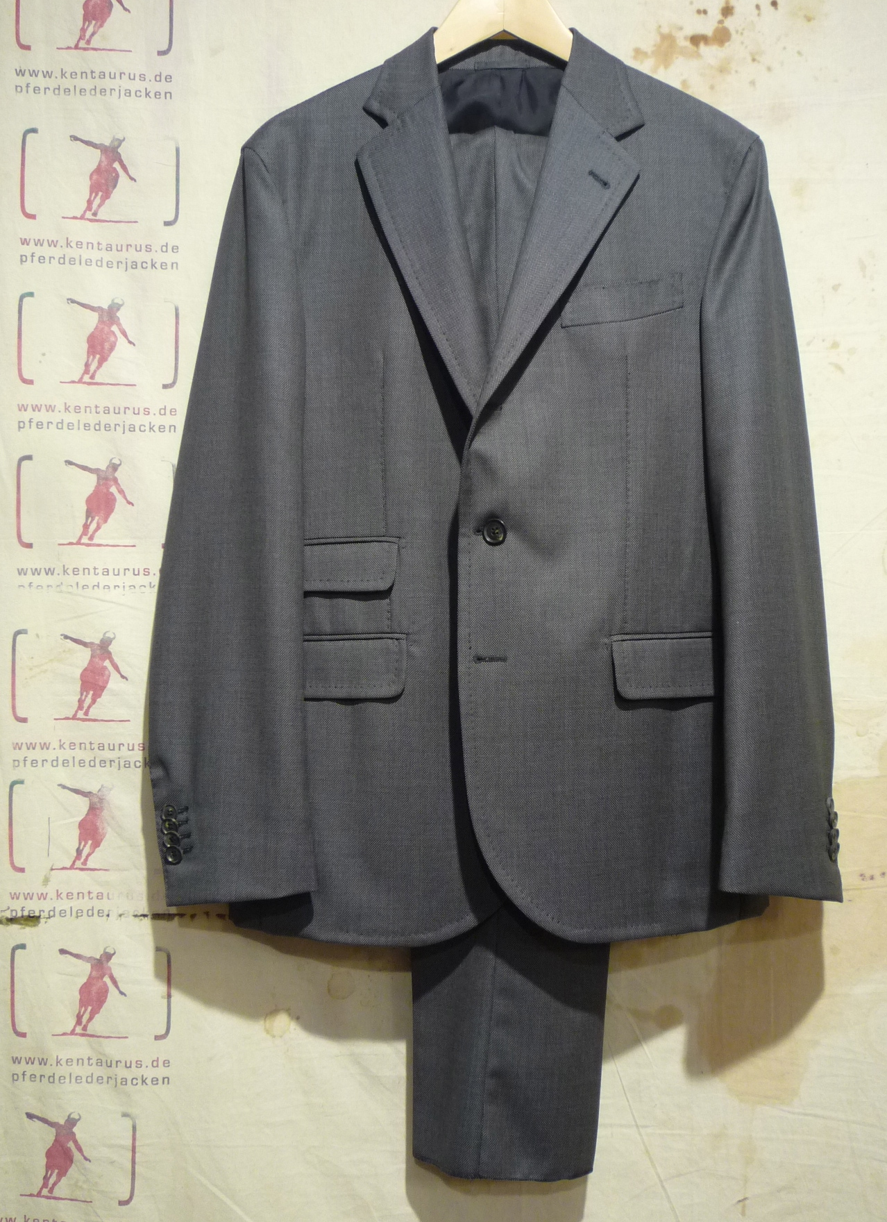 S.Piccolo grey wool suit