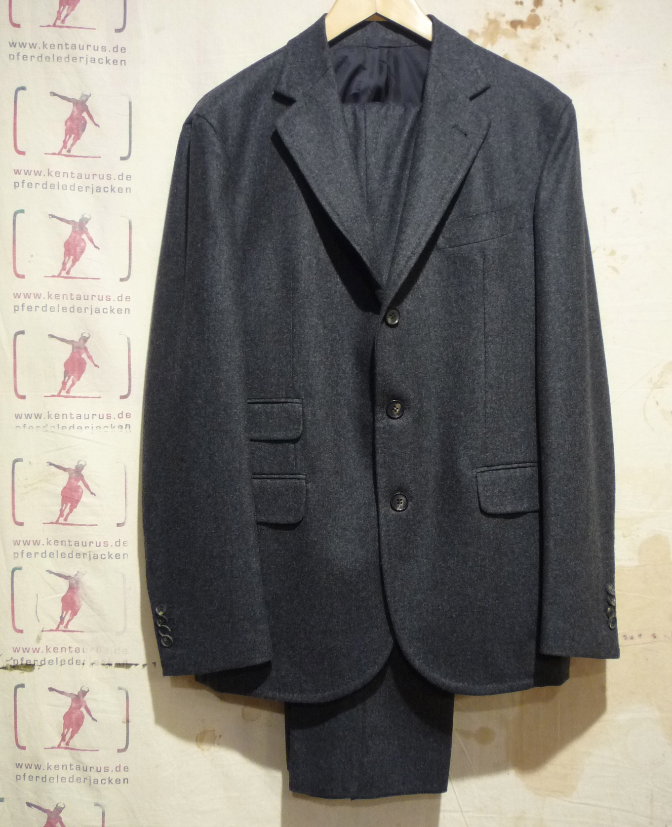 S.Piccolo  grey wool flannel suit