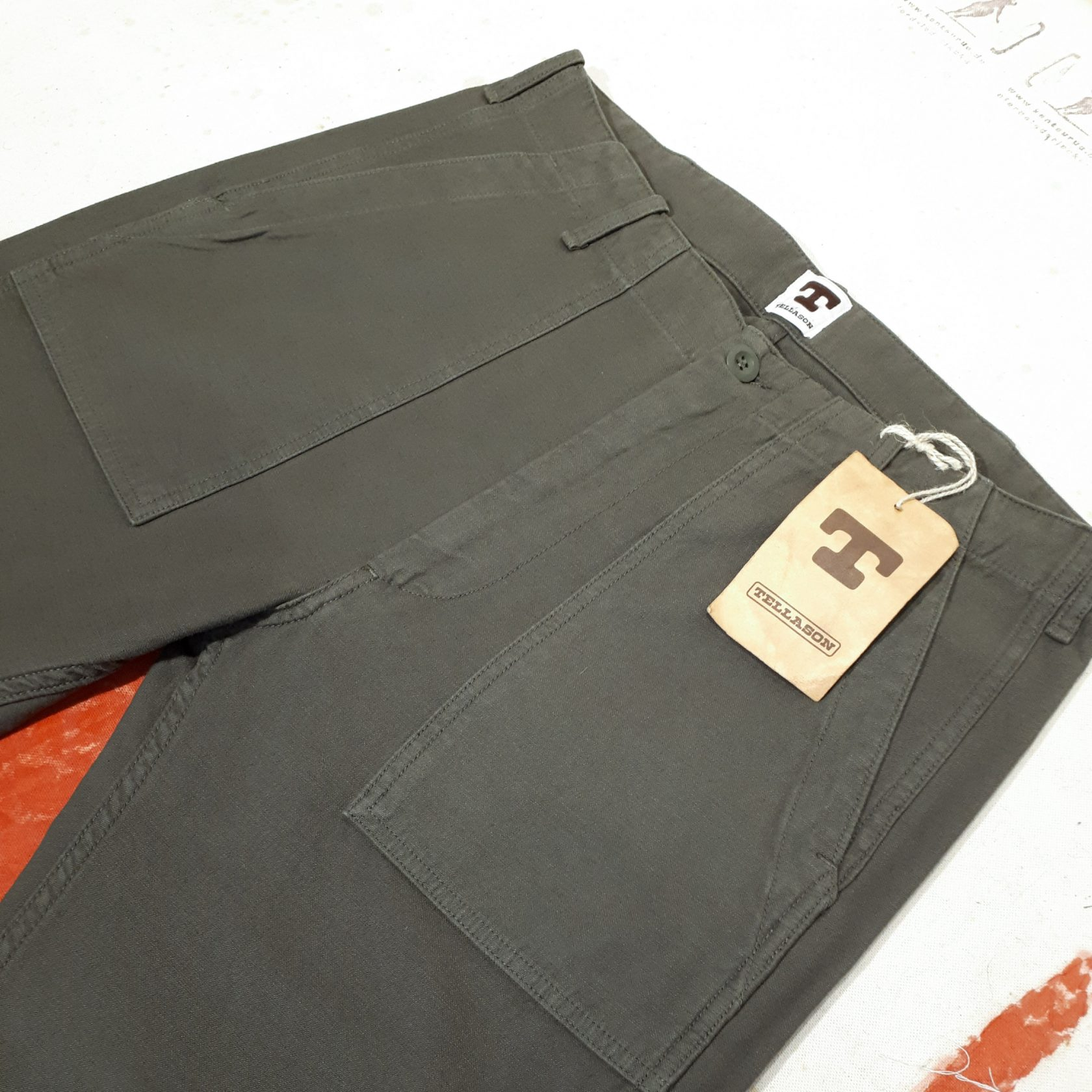 Tellason Fatigue Pant Olive
