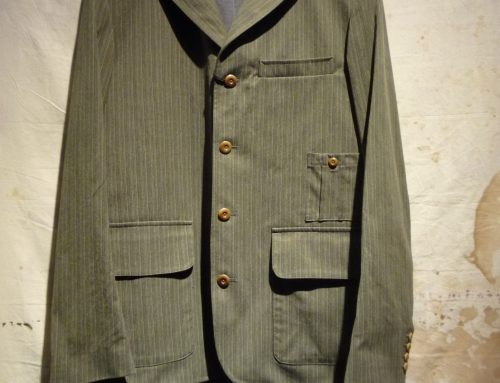 Nigel Cabourn striped jacket green/brown
