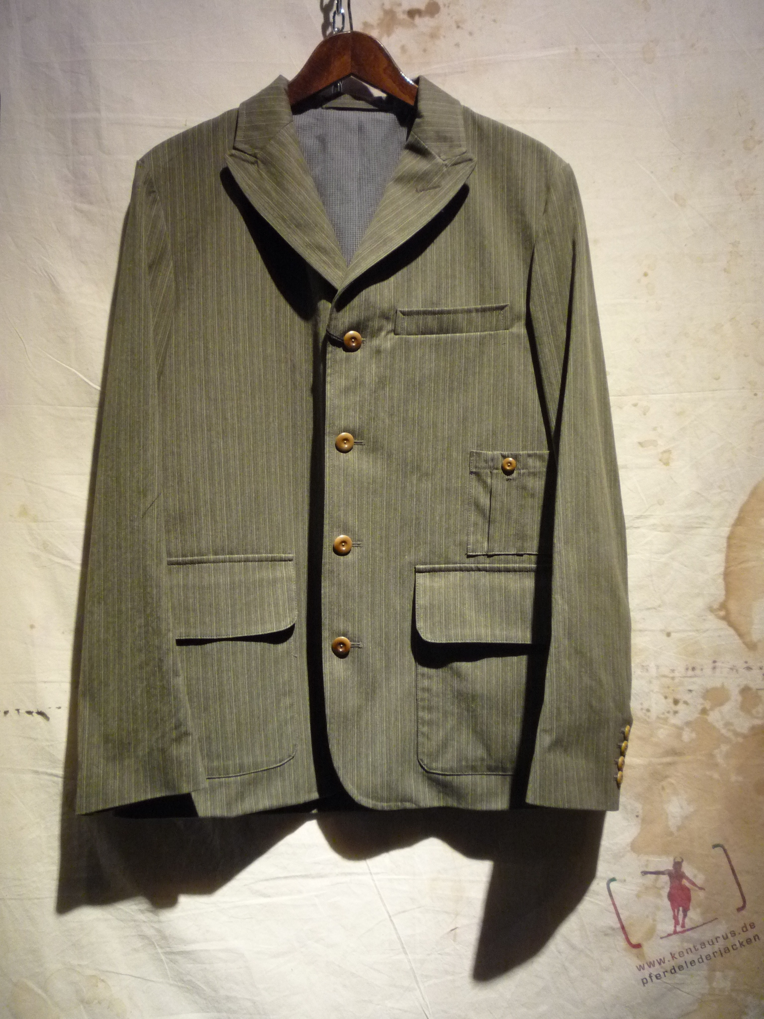 Nigel Cabourn striped jacket green/brown