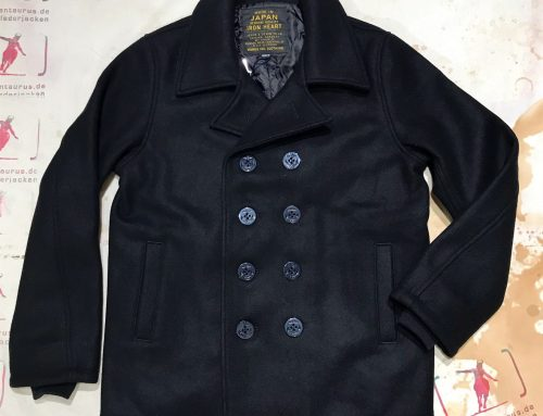 Iron Heart IHW-14 black pea coat
