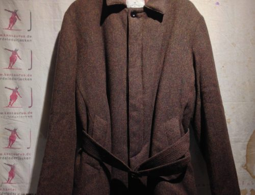 Private White sb4 belted brown wool coat