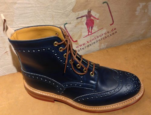 Tricker`s  stow boot parisian blue