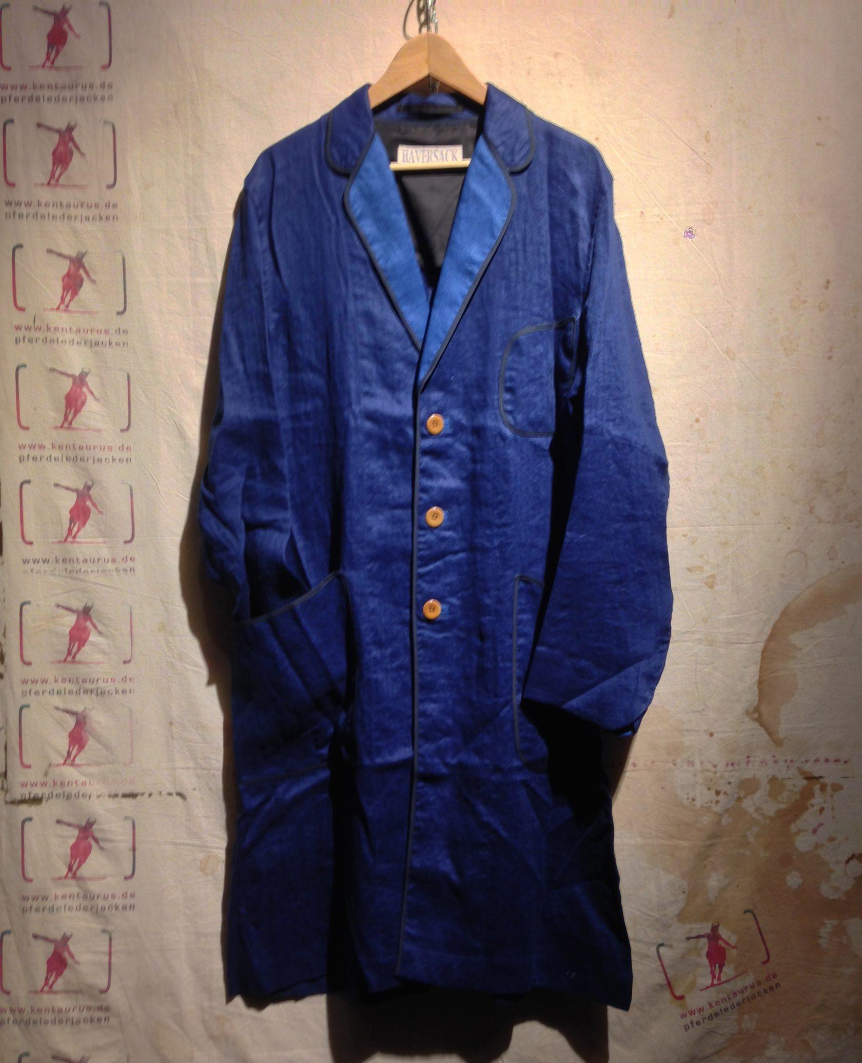 Haversack long jacket indigo