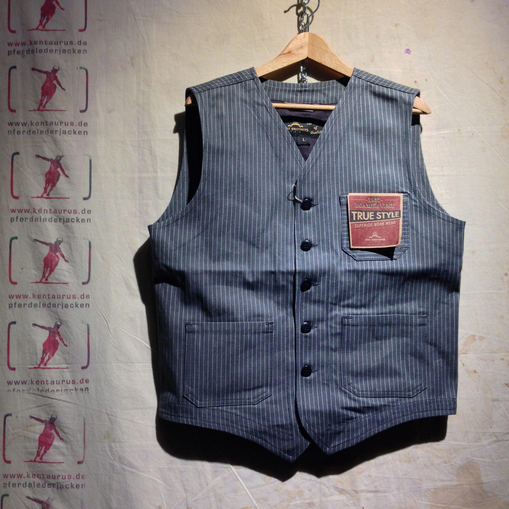 Pike Brothers 1937 roamer vest grey wabash