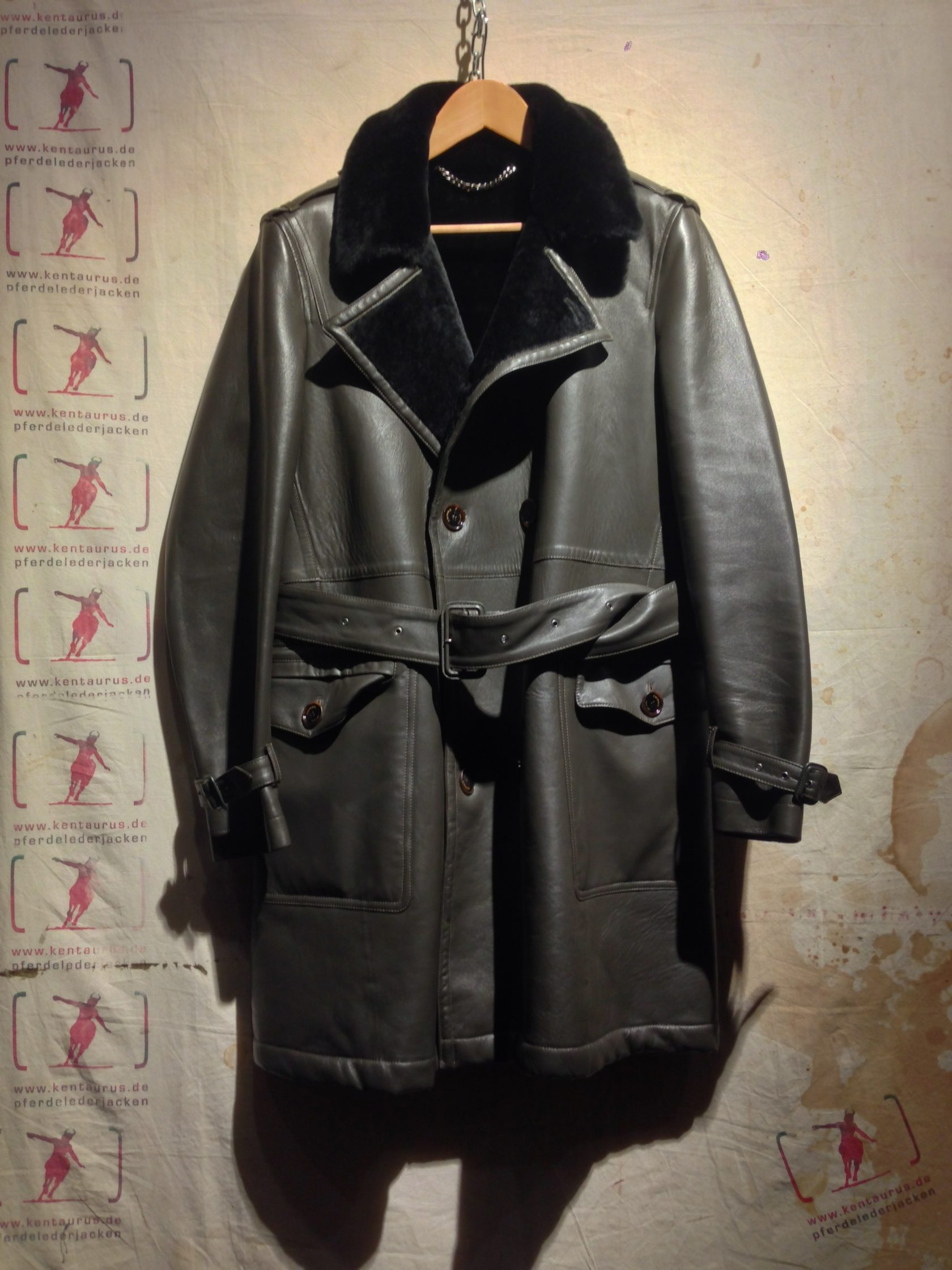 Crombie Leather Trench