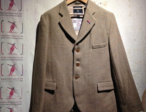 Nigel Cabourn  wide lapel jacket tweed stone