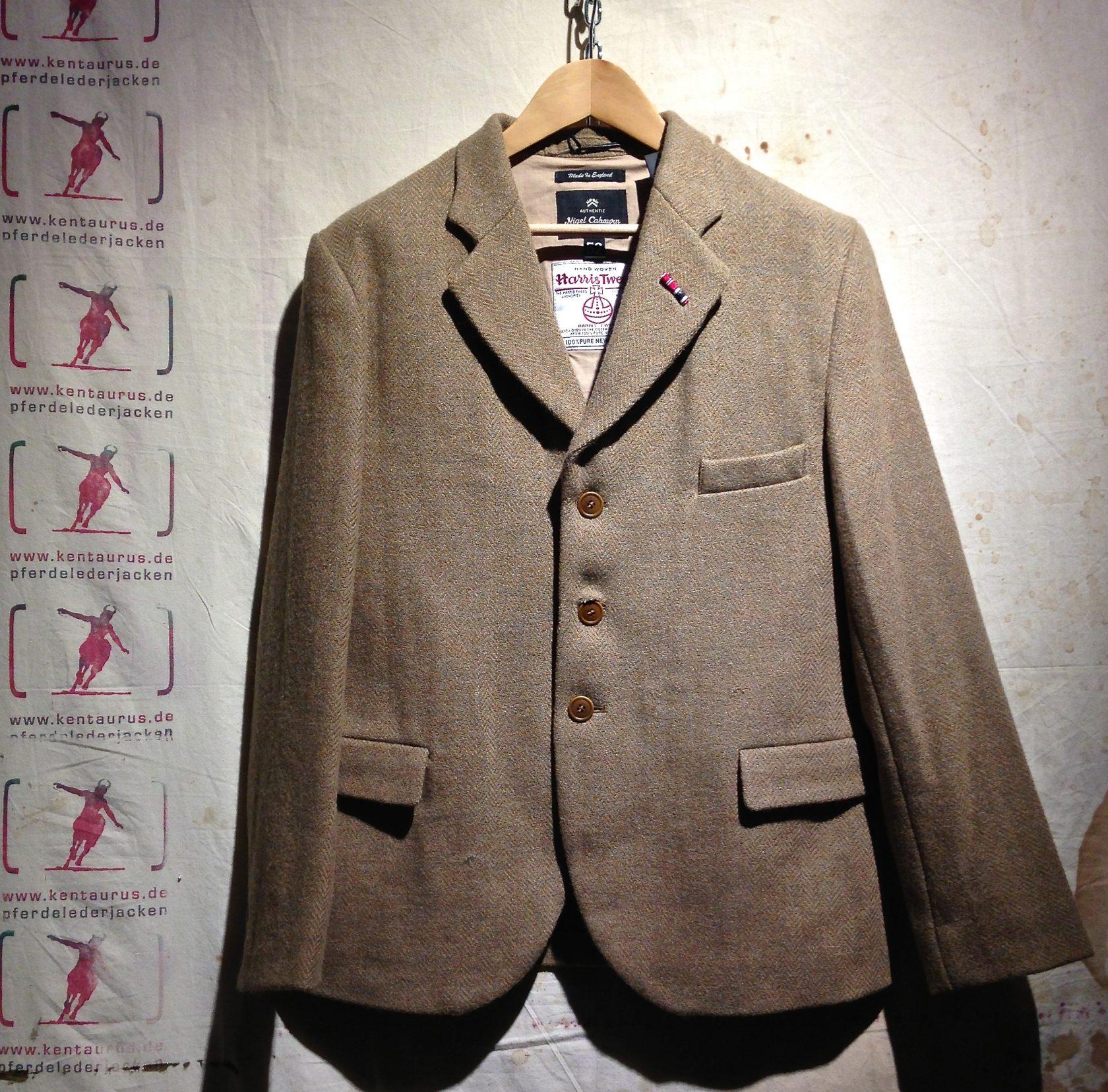 Nigel Cabourn  wide lapel jacket tweed stone